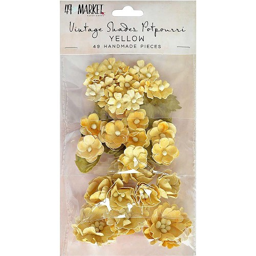 46918 49 And Market Vintage Shades Potpourri 49/Pkg Yellow.