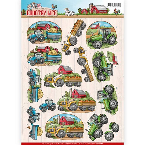 46924 Yvonne Creations - Country Life - Tractors (CD11061).