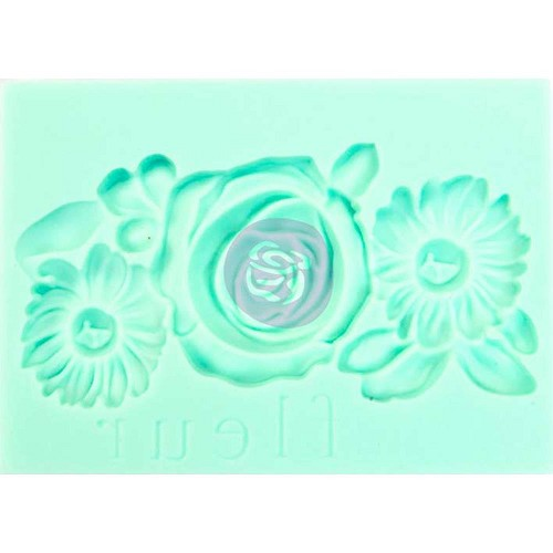 "47072 Prima Marketing Iron Orchid Vintage Art Decor Mould 2.5""X3.5"" Fleur (815936)."