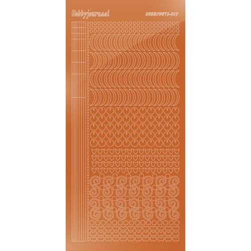 47129 Hobbydots Sticker - Serie 017 - Mirror - Copper.