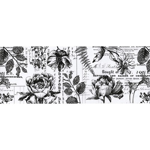 47226 Tim Holtz Idea-Ology Collage Paper 6yds Botanical (TH93705).