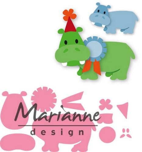 47320 Marianne Design Collectable Eline`s Happy Hippo (COL1450).