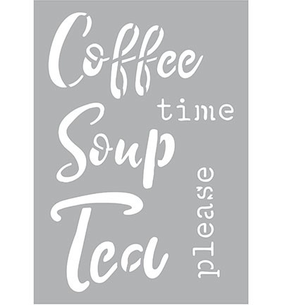 47356 Kippers Hobby Collection Stencil A5 Coffee Soup Tea.