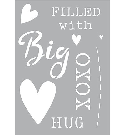 47357 Kippers Hobby Collection Stencil A5 Big Hug.