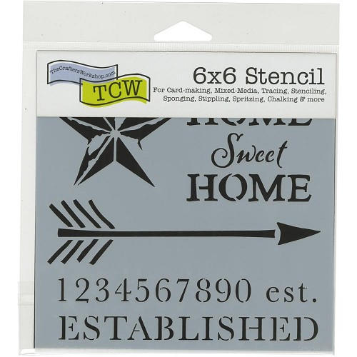 "47367 Crafter`s Workshop Template 6""X6"" Home Sweet (TCW797s)."