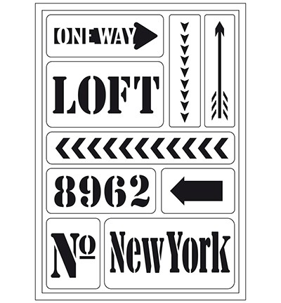 47613 Viva A5 Flexible Stencil New York Loft.