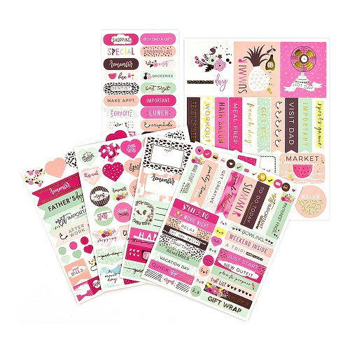 47673 Prima Planner Stickers 5/Pkg Good Vibes.