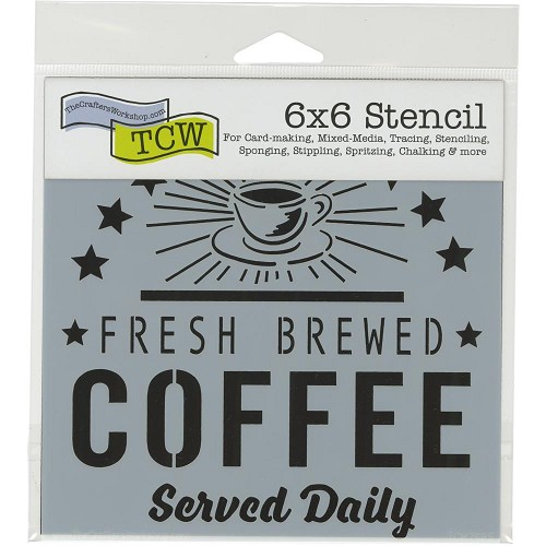 "47677 Crafter`s Workshop Template 6""X6"" Fresh Coffee."