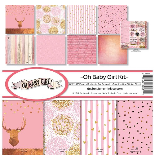 "47797 Reminisce Collection Kit 12""X12"" Oh Baby Girl."