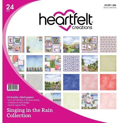 "47800 Heartfelt Creations Double-Sided Paper Pad 12""X12"" 24/Pkg Singing In The Rain, 12 Designs/2 Ea"