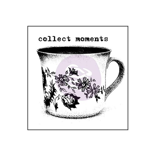 "47830 Prima Finnabair Wood Mounted Stamps 2""X2""Collect Moments (962111)."