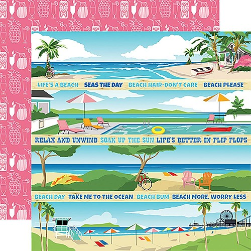 "47874 Carta Bella Summer Splash Double-Sided 12""X12"" Border Strips."