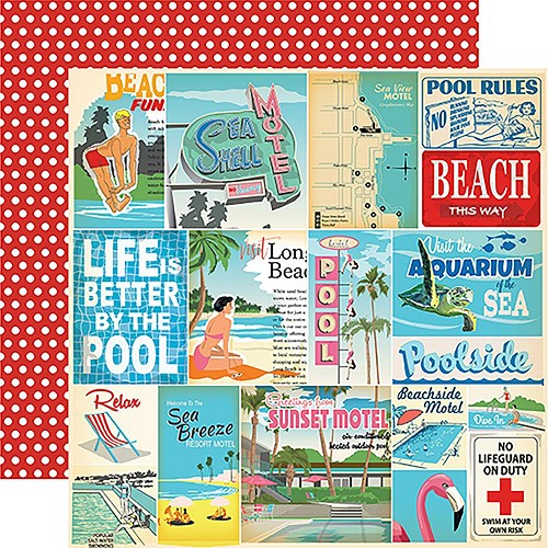 "47875 Carta Bella Summer Splash Double-Sided 12""X12"" Vacation Journaling Cards."