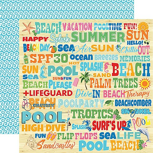 "47876 Carta Bella Summer Splash Double-Sided 12""X12"" Splash Words/"