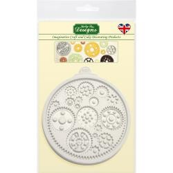 48008 Katy Sue Designs Cake Mold Cogs & Wheels (CE0033).