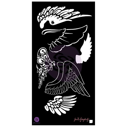 "48032 Prima Jamie Dougherty Bloom Stencil 6""X12"" Wings."