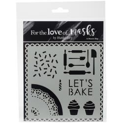 "48034 Hunkydory For The Love Of Masks 5.5""X5.5""Lets Bake."