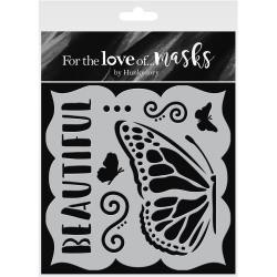 "48037 Hunkydory For The Love Of Masks 5.5""X5.5"" Spread Your Wings."