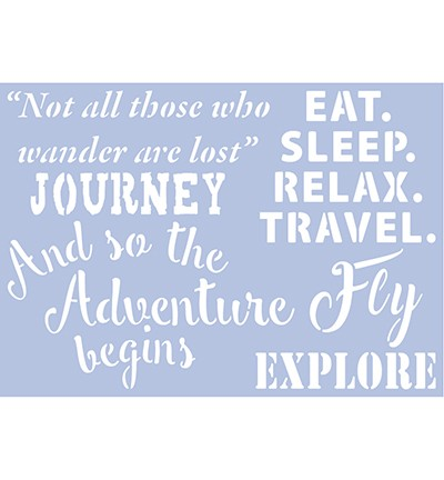 48041 Pronty A4 Stencil Travel Quotes 2.