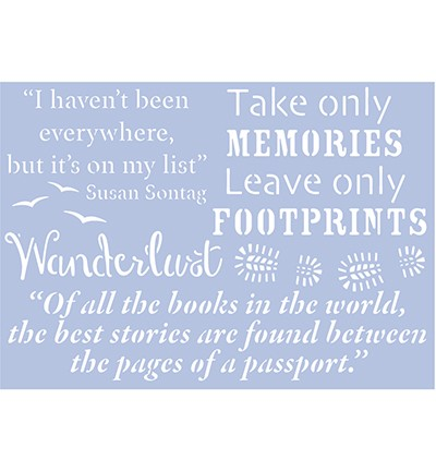 48042 Pronty A4 Stencil Travel Quotes 1.