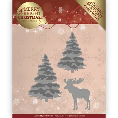 48128 Dies - Precious Marieke - Merry and Bright Christmas - Forest (PM10131).