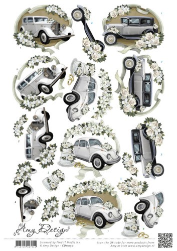 48322 (654) Amy Design - Wedding Cars (CD11050).