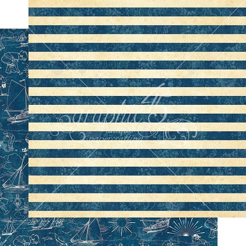"48345 Graphic 45 Sun Kissed Double-Sided Cardstock 12""X12"" Sail Away (4501672)."