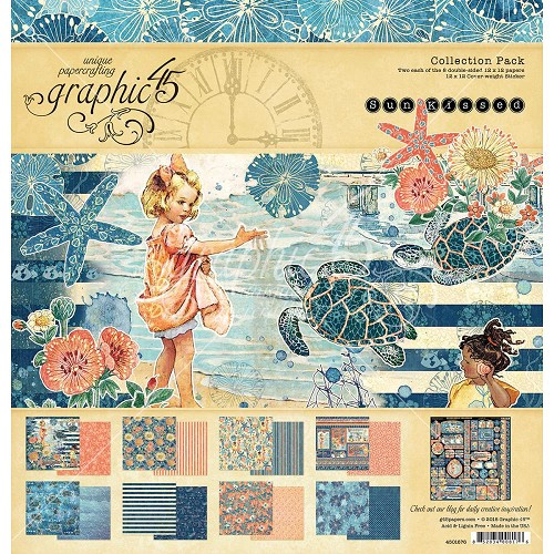 "48349 Graphic 45 Sun Kissed Collection Pack 12""X12"" (4501676)."