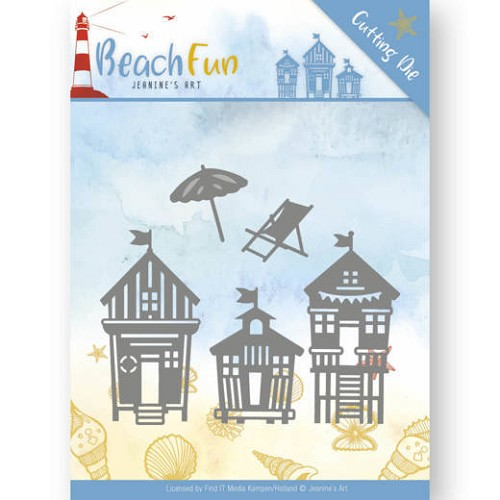 48364 Dies - Jeanine`s Art - Beach Fun - Beach Houses (JAD10040).).