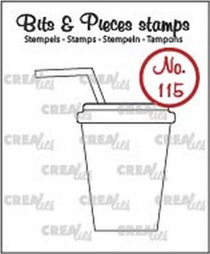 48444 Crealies Clearstamp Bits & Pieces no. 115 Softdrink/milksh. (CLBP115).