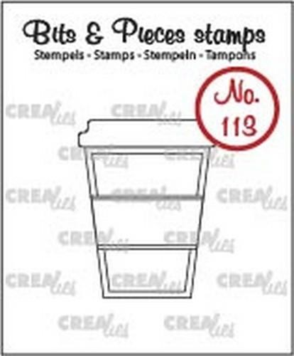 48448 Crealies Clearstamp Bits & Pieces no. 113 Koffie om mee te … (CLBP113 ).
