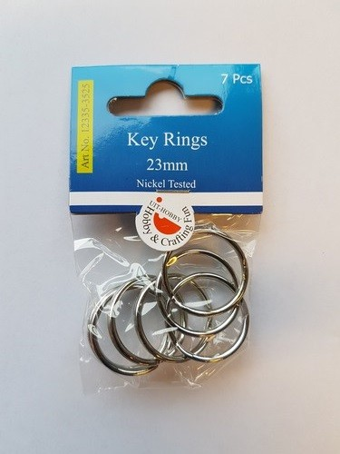 48484 Hobby Crafting Fun Key Rings 23mm platinum 7 ST (12335-3525).