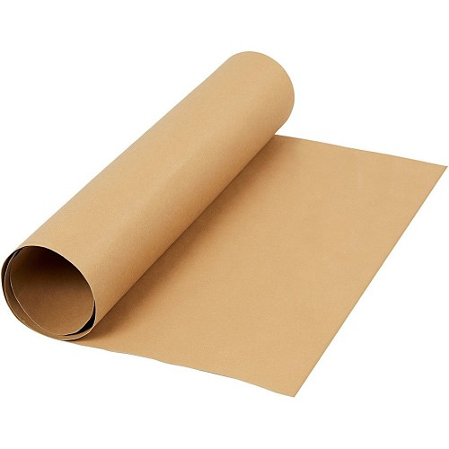 48534 Faux Leather Papier  b: 50 cm dikte 0,55 mm Lichtbruine Kraft 1m (498940).