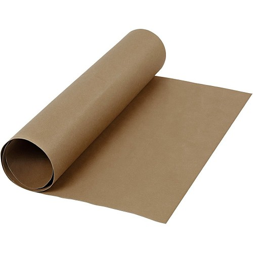 48535 Faux Leather Papier  b: 50 cm dikte 0,55 mm Donkerbruine Kraft 1m (498943).
