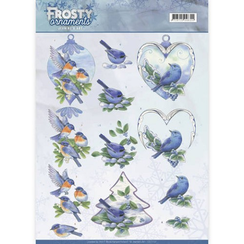 48574 Jeanine`s Art - Frosty Ornaments - Blue Birds (CD11131).