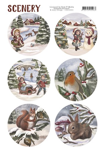 48596 Die Cut Topper - Scenery - Kids and Animals (CDS10001).