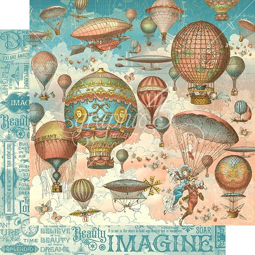 "48667 Graphic 45 Imagine Double-Sided Cardstock 12""X12"" Up & Away (4501712)."