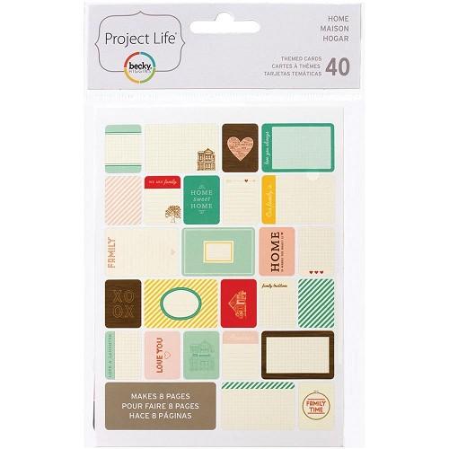 48703 Project Life Themed Cards 40/Pkg Home (97712).