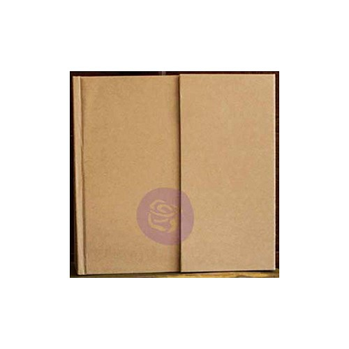 "48766 Prima Memory Hardware Chipboard Album 6.5""X6.25""Kraft Magnetic W/8 Pages  (991104)."