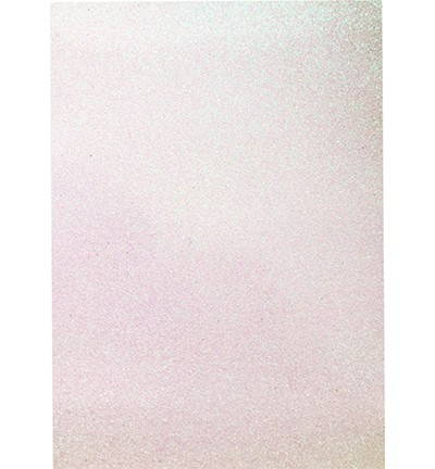 49007 Hobby Crafting Fun Glitter Foam Sheet White A4 (12315-1533).
