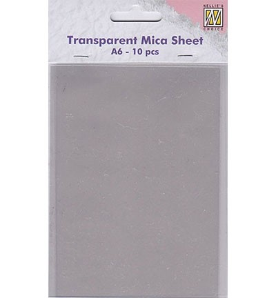 49011 Nellie Snellen Transparent Mica Sheets 10pcs / A6 size (MICA001).