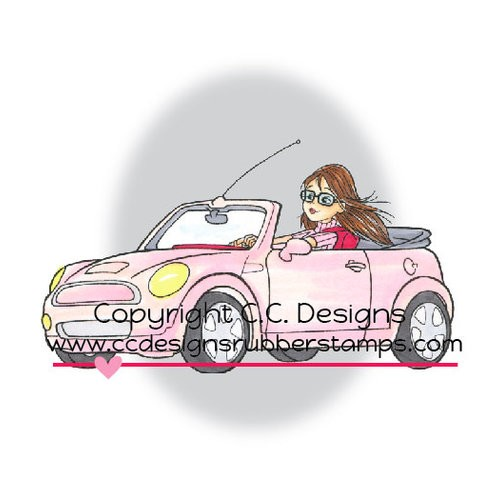 49027 CC Designs Rubber Stamp Robertos Rascals Collection  Erica`s Car.