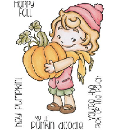 49032 CC Designs Clear Stamp Rustic Sugar Cinnamon with Pumpkin.