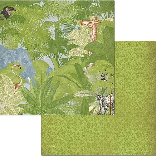 "49219 Bo Bunny Jungle Life Double-Sided Cardstock 12""X12""Jungle Life."