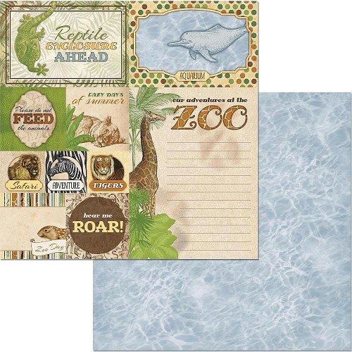 "49222 Bo Bunny Jungle Life Double-Sided Cardstock 12""X12"" Beautiful Beasts."