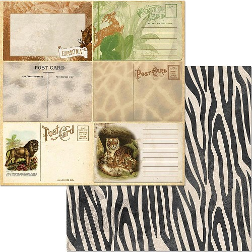 "49226 Bo Bunny Jungle Life Double-Sided Cardstock 12""X12"" Prowl."