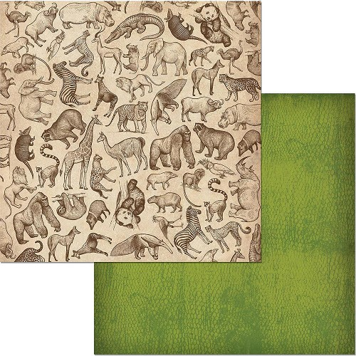 "49228 Bo Bunny Jungle Life Double-Sided Cardstock 12""X12"" Wildlife."