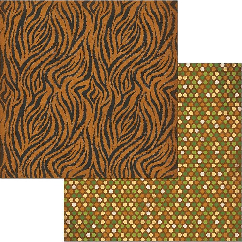 "49229 Bo Bunny Jungle Life Double-Sided Cardstock 12""X12"" Zoo."
