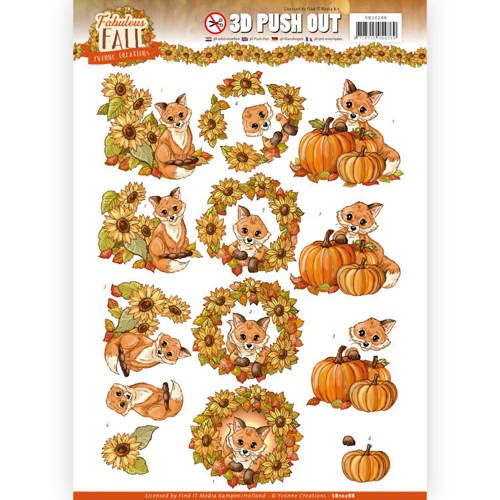 49238 Push Out - Yvonne Creations - Fabulous Fall - Fabulous Foxes (SB10288).