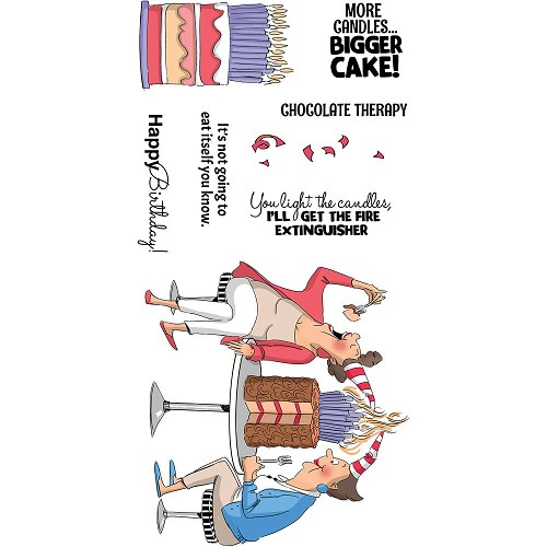 49249 Art Impressions Clear Stamps Chocolate Therapy (AICS28).